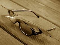 Sonnenbrillen und Feder 2 stockfoto