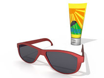 Sonnenbrillen und Sun-Schutz Lizenzfreie Abbildung