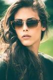 Sonnenbrilleporträt Lizenzfreie Stockbilder