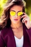 Sonnenbrilleporträt Stockbild