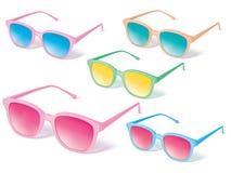 Sonnenbrillevektor-Ikonensatz Stockfotos