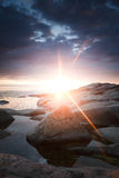 Sonnendurchbruch Stockfoto