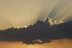 Sonnendurchbruch Stockfotografie