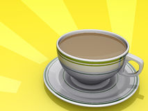 Sonnendurchbruch-Kaffee Stockfoto
