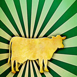 Sonnendurchbruch-Kuh Stockfotografie