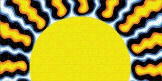 Sonnendurchbruch-Puzzlespiel stock abbildung
