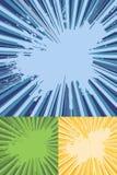Sonnendurchbruch-Strahlen mit Splatter-Beschaffenheits-Vektor Lizenzfreie Stockfotos