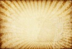Sonnendurchbruchbild auf Weinlesepapierhintergrund. Stockfoto