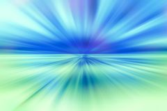 Sonnendurchbruchhintergrund des blauen und grünen Lichtes Stockfotografie