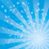 Sonnendurchbruchvektormuster mit blauer Farbpalette lizenzfreies stockfoto
