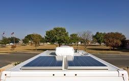 Sonnenenergie für Ihren RV Stockbilder