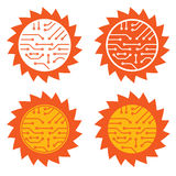 Sonnenenergiekreisläuf Lizenzfreie Stockbilder