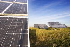 Sonnenenergiestation 1 Stockfoto