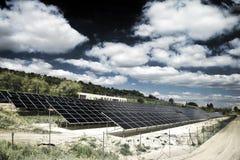 Sonnenenergiestation Stockbilder