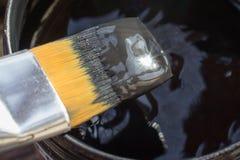 Sonneneruption auf schwarzer Farbe Lizenzfreie Stockfotografie
