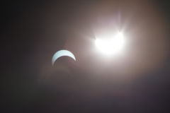 Sonnenfinsternis Dallas Texas Lizenzfreie Stockfotografie