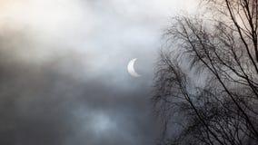 Sonnenfinsternis in Schottland Stockbilder