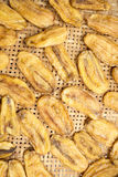 Sonnengetrocknete Banane Lizenzfreies Stockbild