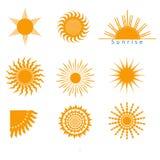 Sonnenikonen eingestellt Stockfoto