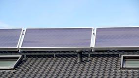 Sonnenkollektor stock video