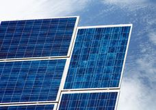 Sonnenkollektor stockfoto