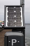 Sonnenkollektor-antreibende Parkuhr Monterey Kalifornien Lizenzfreies Stockbild