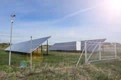 Sonnenkollektor-Bauernhof stockbilder