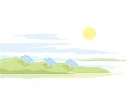 Sonnenkollektor-Landschaft Lizenzfreie Stockfotografie
