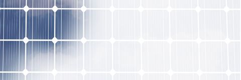 Sonnenkollektor mit weißem Übergang Stockfotos