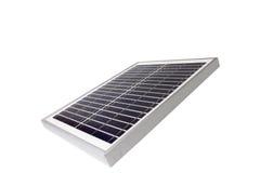 Sonnenkollektor mit weißem Hintergrund stockfotografie
