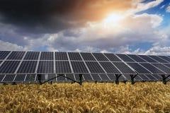 Sonnenkollektor und erneuerbare Energie stockbilder