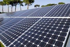 Sonnenkollektoren Stockbild