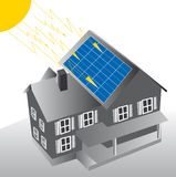 Sonnenkollektoren Stockfoto