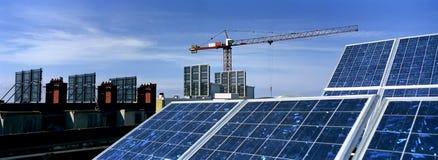 Sonnenkollektoren Stockfotografie