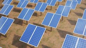 Sonnenkollektoren der Illustration 3D Alternative Energie Konzept der erneuerbarer Energie ?kologische, saubere Energie Sonnenkol lizenzfreie stockbilder