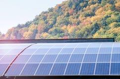 Sonnenkollektoren für Elektrizitätserzeugung Stockbild