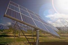 Sonnenkollektoren im Süden von Spanien lizenzfreies stockbild
