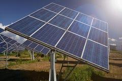 Sonnenkollektoren im Süden von Spanien Stockbilder