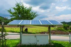 Sonnenkollektormacht-Energiealternative Lizenzfreie Stockfotografie