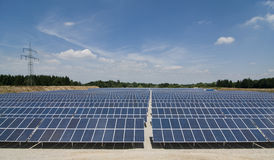 Sonnenkollektorpark Stockbilder