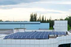 Sonnenkollektorsystemgebäudedach Lizenzfreie Stockbilder