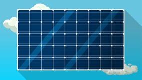 Sonnenkollektorvektorhintergrund Lizenzfreies Stockfoto