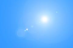 Sonnenlicht und Blendenfleck Lizenzfreies Stockbild