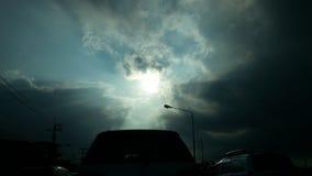 Sonnenlicht zur Erde Stockfoto