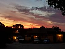 Sonnensatz Adelaides Süd-Australien Lizenzfreies Stockbild