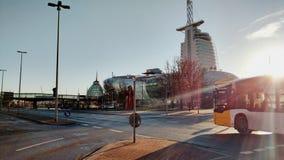 Sonnenschein über Bremerhaven lizenzfreies stockfoto