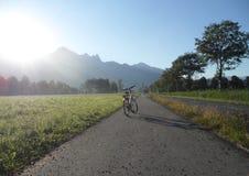 Sonnenschein auf dem Fahrrad Stockbild