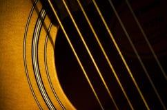 Sonnenschein auf der Gitarre Lizenzfreies Stockbild