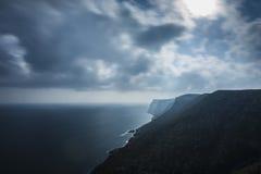 Sonnenschein auf der Küste stockfotografie