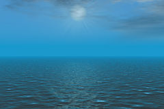 Sonnenschein auf Meer Lizenzfreies Stockfoto